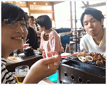 01. 同期で海鮮BBQ